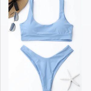 NWT Light Blue ZAFUL bikini